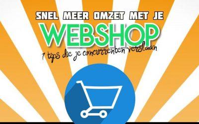 Snel Meer Omzet Met Je Webshop