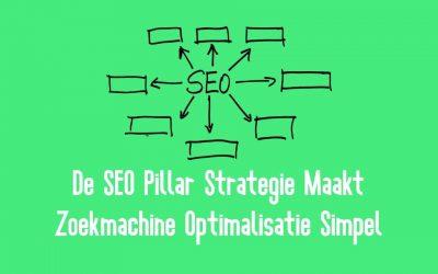 De SEO Pillar Strategie Maakt Zoekmachine Optimalisatie Simpel
