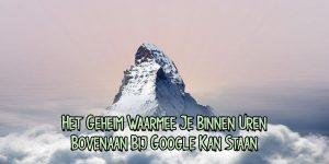 Bovenaan bij Google