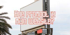 Promoot mijn website