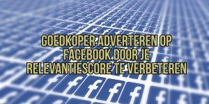 facebook relevantiescore